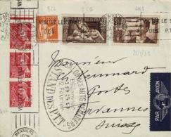 TP N° 356,366,406 En 3ex Et 418 Sur Enveloppe, Postée Au Stand De La Poste Au Salon Des Arts Ménagers De 1939 - 1921-1960: Periodo Moderno