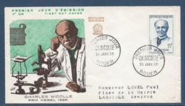 France - FDC - Premier Jour - Charles Nicolle - Rouen - 1958 - FDC