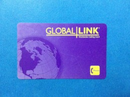 Carta Scheda Telefonica Prepagata Usata Stati Uniti USA Prepaid Calling Card Used Global Link - Vereinigte Staaten