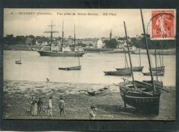 CPA - BENODET - Vue Prise De Sainte Marine, Animé - Bateaux - Bénodet