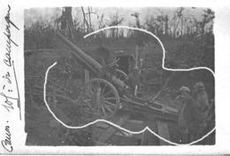 Armée Française  Artillerie Canon  Tube Campagne 105 Mm 14-18 - Krieg, Militär