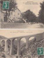 2 CPA  04 ANNOT ENTREE DE LA VILLE RTE DE COLMARS + VIADUC - Frankrijk