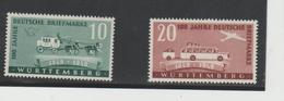 FrzMi.nr.49-50 **/ ( DEUTSCHLAND - 1949) Württemberg, 100Jahre Briefmarken  MNH - French Zone