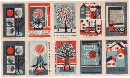 Boites D'allumettes-etiquettes,matchbox Labels,Czechoslovakia, Protection De L'environnement, Terrain De Sport - Boites D'allumettes - Etiquettes