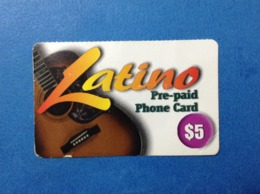 Carta Scheda Telefonica Prepagata Usata Stati Uniti USA Prepaid Card Used Cominex Latino $ 5 - Vereinigte Staaten