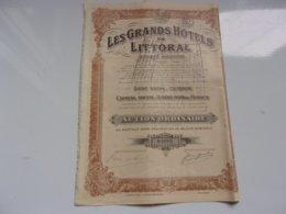LES GRANDS HOTELS DU LITTORAL (ostende - Hist. Wertpapiere - Nonvaleurs