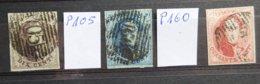 BELGIE  1861     Nrs.  10 - 11 En 12 A    Gerand  -  Zie Foto   Gestempeld  CW 154,00 - 1858-1862 Medallions (9/12)