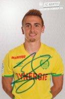 CP. JOUEUR. FC . NANTES . VALENTIN  RONGIER  Sa Veritale Signature  # Par Le Club - Fútbol