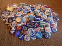 Lot De 290 Badges Concernant Les élections Américaines (sénat, Présidentielles Etc..) RARE - Badges