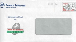 Enveloppes N° 2236 E2, France Telecom Et Rugby Club Camargue- Nimes Gard - Entiers Postaux