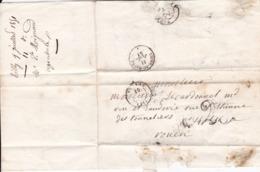 Vernon Tilly   Pour Rouen Taxe Double Trait 25 Décimes LAC 1851 - Storia Postale