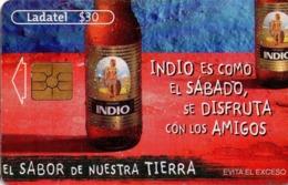 MEXICO. BEER - CERVEZA - BIER. CERVEZA INDIO. Indio Es Como El Sábado, Se Disfruta Con Los Amigos. MX-TEL-P-0881B. (110) - México