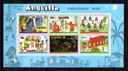 ANGUILLA    1978    Christmas  Childrens  Paintings  Sheetlet    MNH - Anguilla (1968-...)