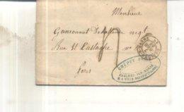 Lettre De 1848 De Chalon Sur Marne Vers Paris - Postmark Collection (Covers)