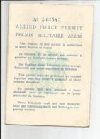 PERMIS MILITAIRE ALLIE 1950  Permettant D'entrer En Autriche - Documents
