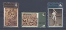 """THE GAMBIA.....QUEEN ELIZABETH II.(1952-NOW).."""" MICHELANGELO SET OF 3..""""......MNH. - Sonstige"""