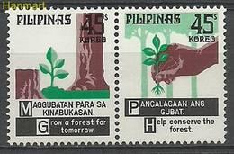 Philippines 1975 Mi Par1132-1133 MNH ( ZS8 PLPpar1132-1133 ) - Trees
