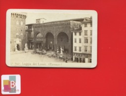 Italie FIRENZE Loggia Dei Lanzi  Place   Photo Ancienne CDV GEORGES SOMMER NAPLES  1870 - Anciennes (Av. 1900)