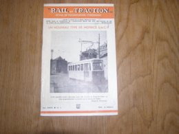 RAIL ET TRACTION N° 3 Revue Chemins De Fer Belgique SNCB NMBS SNCV Locomotive Evolution Des Types Motrice Vilvoorde Tram - Spoorwegen En Trams