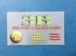 Carta Scheda Telefonica Prepagata Usata Stati Uniti USA Prepaid Card Used 3 B $ 10 - Vereinigte Staaten