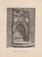 BOURNEAU  - Photogravure Robuchon. Portail De L'Eglise. Cliché Rare.  17x13 - Documents Historiques