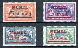 DE   Memel    ---    Y&T       X       Mi   36 - 39      ---     TB - Memel (Klaïpeda)