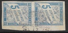 COLONIES GENERALES : PAIRE BDF TAXE N° 18 RARE OBLITERATION CACHET LOANGO CONGO FRANCAIS - Postage Due