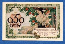 Nice  -  50 Centimes      -- état SUP+ - Chambre De Commerce