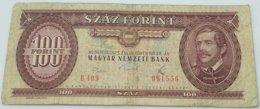 Billete Hungría. 100 Forint. 1975 - Hungría