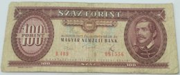 Billete Hungría. 100 Forint. 1975 - Hungary
