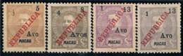 Macau, 1913, # 198/201, MNG - Nuovi
