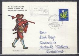 Brief Van Automobil Postbureau Naar Karlsruhe Rintheim Tag Der Briefmarke 1960 - Svizzera