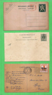 Belgium 3 Ancient Postcards 1918 Occupation - 1915-1920 Albert I
