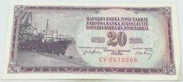 Billete Yugoslavia. 20 Dinares. 1974 - Yugoslavia
