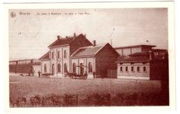 WEERDE - De Statie En Bloktrein Rond 1900 - Zemst