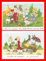 2 CPA Illustrateur ROB-VEL. La Ville à La Campagne ...K064 - Illustratori & Fotografie