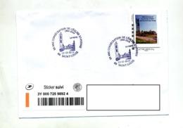 Lettre Suivie Cachet Saint Louis Eglise Saint Pierre Sur Timbre à Moi - Marcophilie (Lettres)