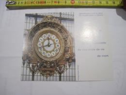 CALENDRIER PUBLICITAIRE Horloge Musée D'Orsay 1994  TBE - Calendarios