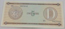 Billete Cuba. 5 Pesos. Serie D. 1985. Certificado De Divisa.Banco Nacional De Cuba. EBC. Excelente Buena Conservación. - Cuba