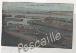 CP COLORISEE JERSEY - VUE GENERALE DU PORT - PAS DE NOM D'EDITEUR N° 100 - CIRCULEE EN 1912 - CACHET HOTEL DE L'EUROPE - Jersey