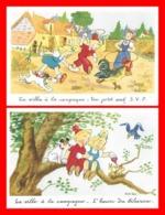 2 CPA Illustrateur ROB-VEL. La Ville à La Campagne ...K065 - Künstlerkarten