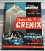 Plaque Publicitaire Tôle - Chaussettes-Pulls GRENIX En équipant Les Spéléologues Du GOUFFRE BERGER - Sommet MAKALU - Vestidos