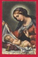 CARTOLINA VG ITALIA - BUON NATALE - La Vergine Col Bambino - C. DOLCI - SAEMEC 152 - 9 X 14 - 1954 - Altri