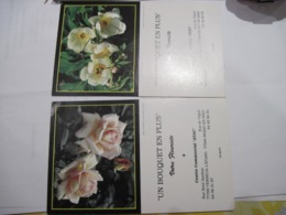 2 CALENDRIERS PUBLICITAIRE Un Bouquet En Plus 77    1993  TBE - Calendars