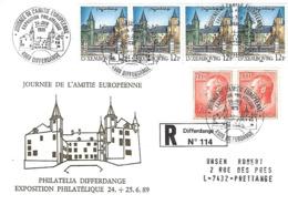 Luxembourg  -  FDC  24.6.1989    Journée De L'Amitié Européenne - FDC