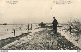 MILITARIA  GUERRE 1914- 18  Les Inondations De L' Yser   ..... - Guerre 1914-18