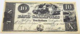 RÉPLICA Billete Gallipolis. 10 Dólares. 1840. Estados Unidos De América - Stati Uniti