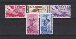 Triest - Zone A (AMG FTT) - 1948 - Michel Nr. 48/49 + 54/56 - 7. Trieste