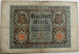 Billete Alemania. 100 M. Berlín, 1920 - [ 3] 1918-1933 : Repubblica  Di Weimar