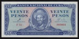 CUBA 20 PESOS 1961 CHE GUEVARRA SIGNATURE PICK 97a UNC - Kuba